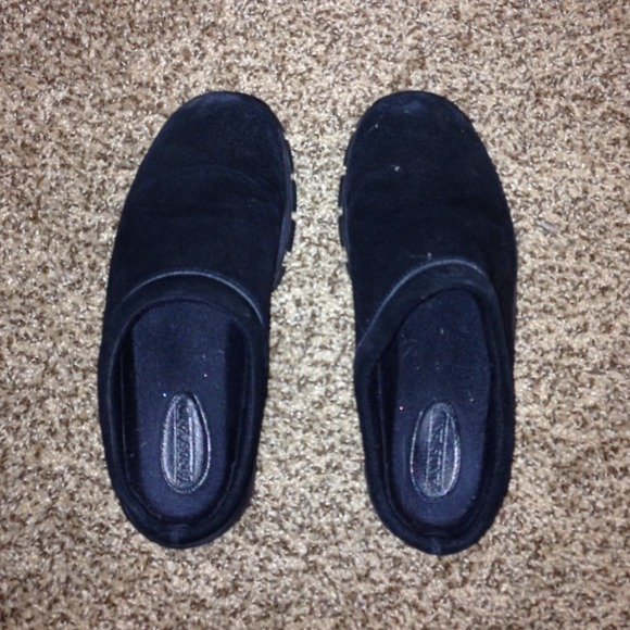 Banana Republic Black Suede Slip On Shoes