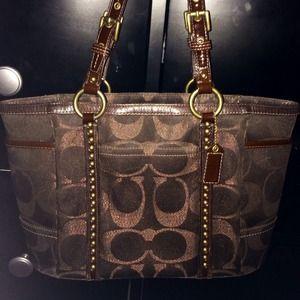 Brown Coach bag