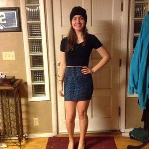 Forever21 patterned body con skirt NWOT