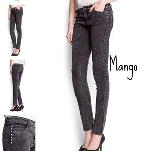 Mango Denim - Grunge Studded Skinny Denim