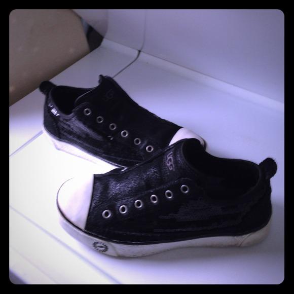 UGG Shoes | Ugg Black Sparkle Tennis