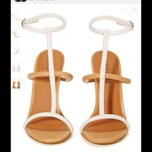 Nude and white flux sandals #269