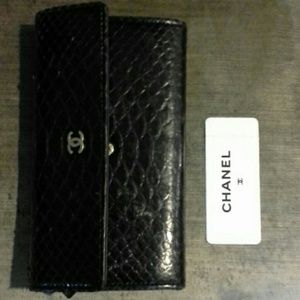Authentic Python Chanel Wallet