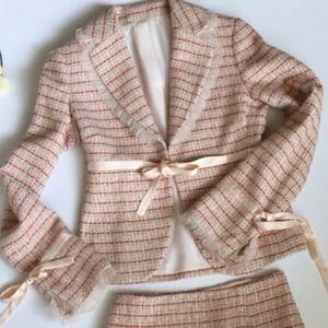 Laundry by Shelli Segal Dresses & Skirts - Pink Tweed Skirt Suit Laundry by S. Segal for NM 2