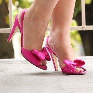 Fuschia Pink Kate Spade Slingback Heels