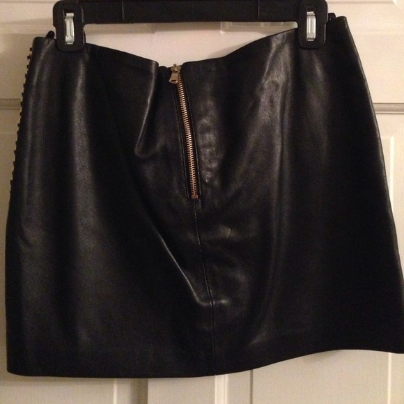 Real Leather Mini Skirt