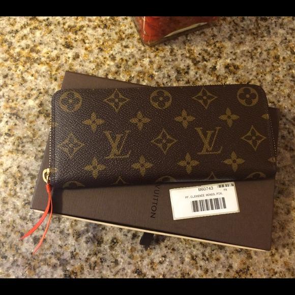 louis vuitton authentic louis vuitton cl233mence wallet