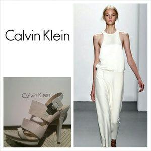 Calvin Klein White Slingback