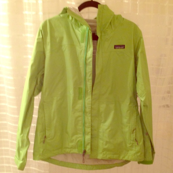 68% off Patagonia Outerwear - Patagonia rain jacket-lime green ...