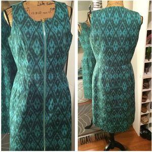 Alex Marie Dresses & Skirts - Seafoam Green Tribal Print Dress w/ zipper | 10
