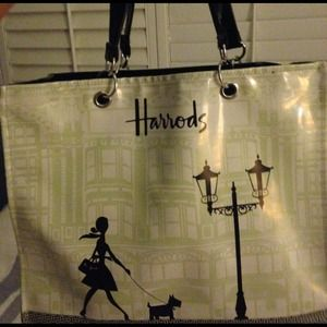 Harrod's Bags - Auth Harrod's bag w zipper &pockets