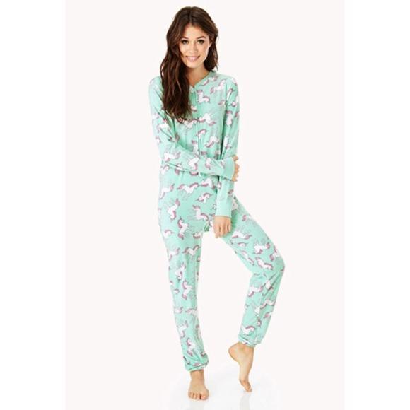 New! Forever 21 unicorn onsie pajama