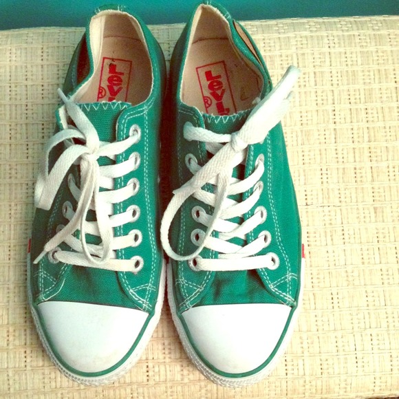 bac8ff103fce Levi s Shoes - Green Levi s   converse sneakers