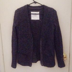 Dark Gray cable knit cardigan