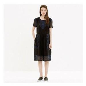 Madewell Dresses & Skirts - NWT Madewell Black & Navy Fortune Dress - Size 4