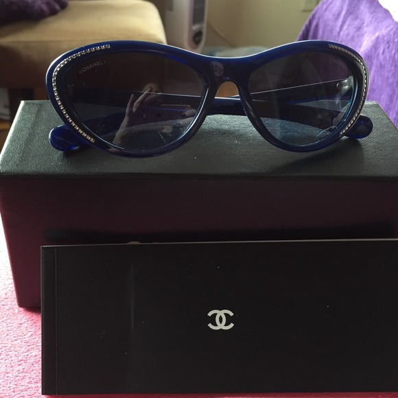0c5097e3d91e CHANEL Accessories - Chanel navy blue sunglasses. Just lowered price