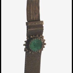 Vintage peeking glass bracelet