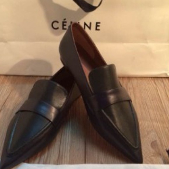 f2a2db67569 Auth Brand New Celine Pointed Loafers