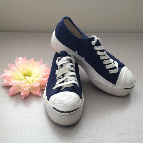 78e48f0ee5b3 Converse Shoes - Converse Jack Purcell navy blue platform sneakers