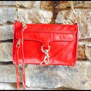 Rebecca Minkoff Handbags - 🎉Hot Pick🎉Rebecca Minkoff Red Leather Bag NWOT