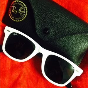 Original White Ray ban wayfarers