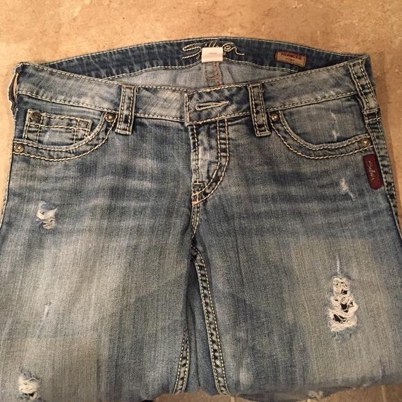 60% off Silver Jeans Denim - Silver Buckle Jeans from Rachel's ...