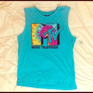 Target Tops - Tie Dye MTV shirt