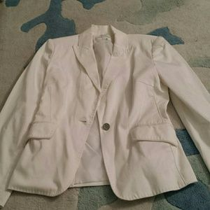 Calvin Klein 2 White stretch lined blazer