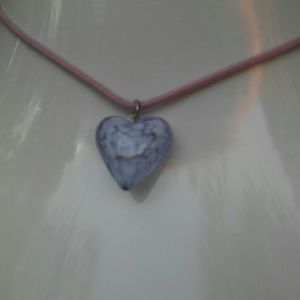 Other - NWT Glass Pink Heart Pendant
