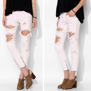One Teaspoon Dirty White Freebird Jeans One Teaspoon Denim One