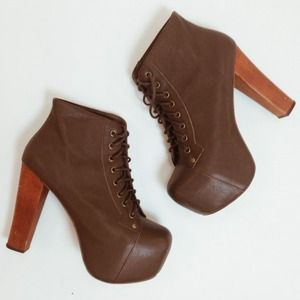 Jeffrey Campbell Boots - Brown Jeffrey Campbell Leather Litas