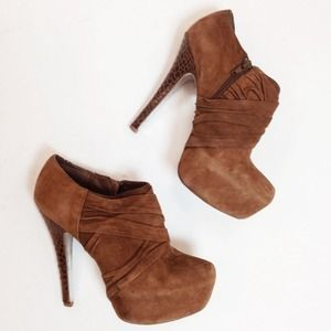 H by Halston Shoes - Cognac H by Halston Ankle Boots