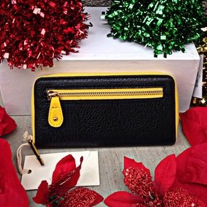 Lemon Zippered Zest Wallet