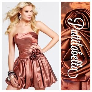 Copper Shimmer Party Dress NWT