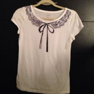 Loft XS white top with embellishments