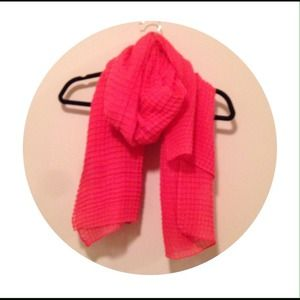 Anthropologie big coral scarf