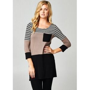 "Bare Anthology Tops - CLEARANCE ❤️ ""Charm"" Colorblock Tunic Top"