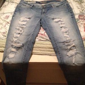 Decree destressed jeans