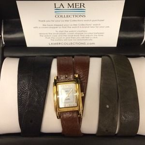 La Mer Collections Wrap Watch with 3 bands