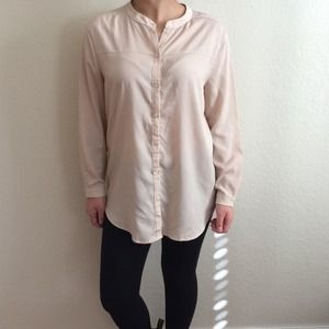Which We Want Beige Blouse