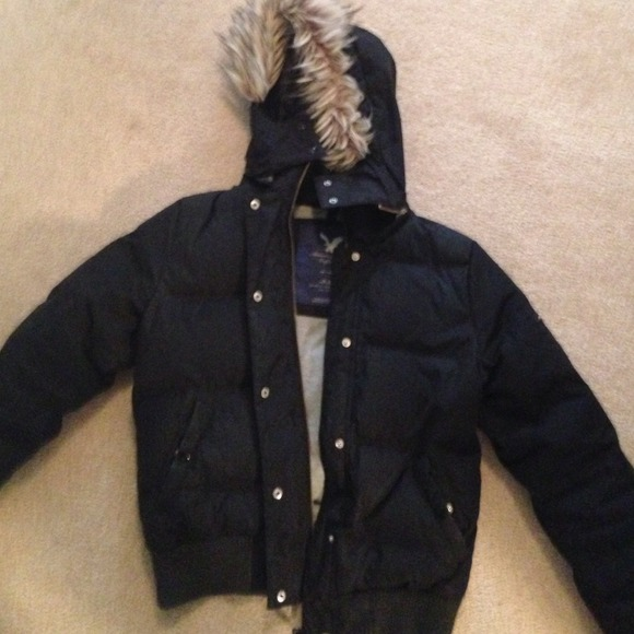81% off American Eagle Outfitters Outerwear - Black American eagle