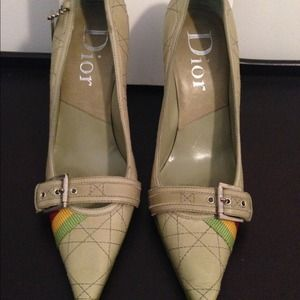 Authentic Christian Dior Military Babe Heels 10