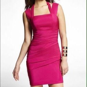  NWT Express Hot pink dress 
