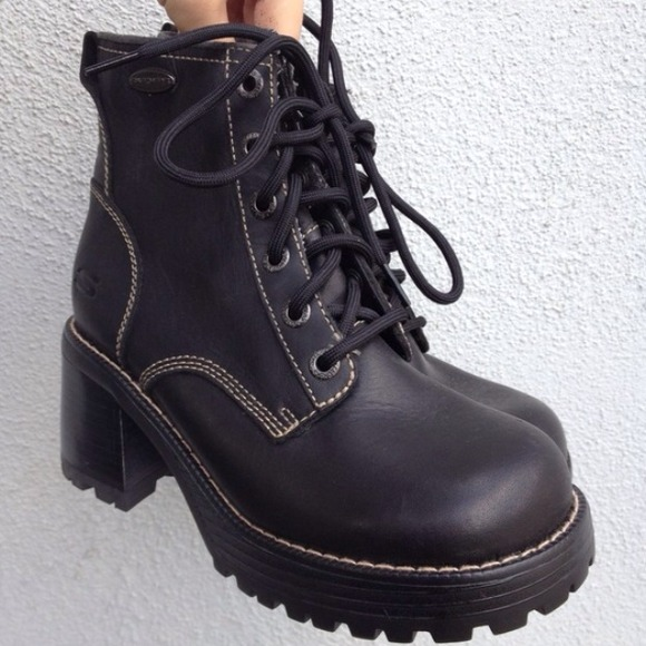 Vintage Shoes 90s Goth Chunky Boots Platforms Poshmark