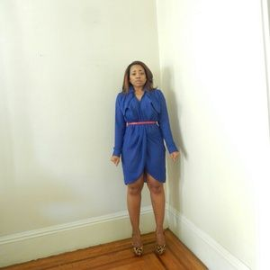 Dresses & Skirts - Classic Blue Trench Dress