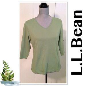 L.L.Bean 3/4 Sleeve Top