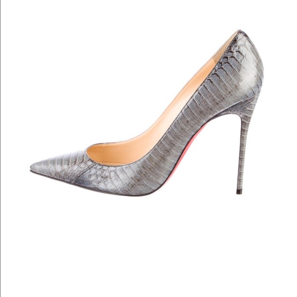 2bf969affcd C .louboutin so kate grey Python pump 39.5. _SOLD_ NWT