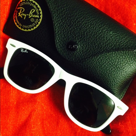 Ray-Ban Accessories - White Ray ban wayfarers great condition!!