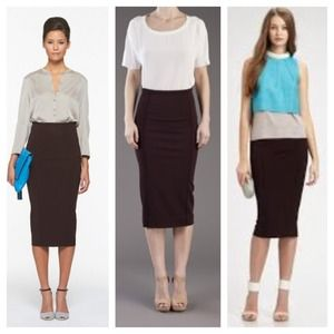 HOST PICK : DVF Dark Purple Pencil Skirt