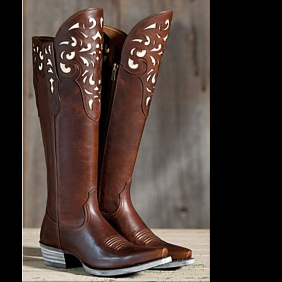 63% off Ariat Boots - Ariat Hacienda Boot and Ann Taylor Top ...